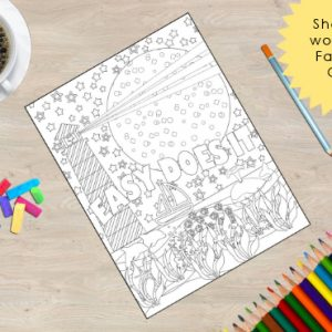 Easy Does It Coloring Book Page from the Sobriety Garden Coloring Book