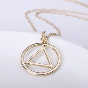 aa symbol necklace gold