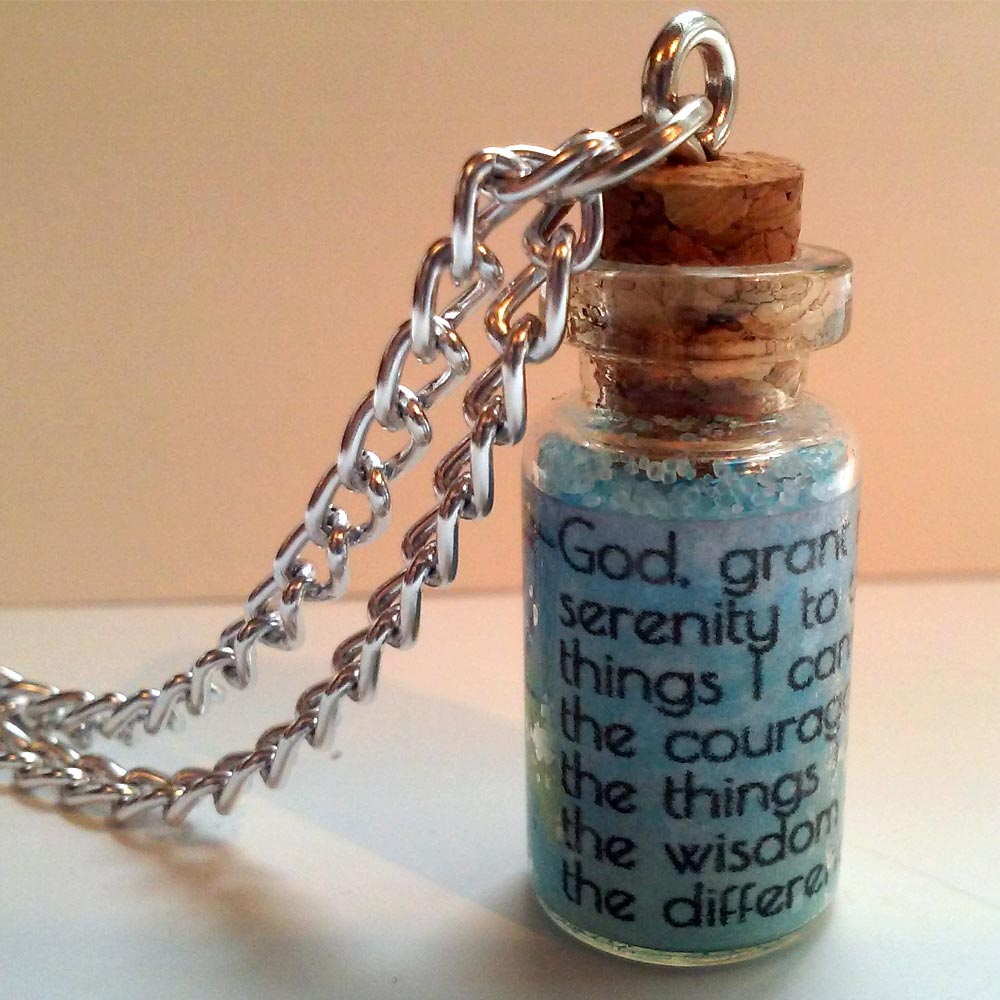 Serenity Prayer in a Tiny Bottle Necklace-6