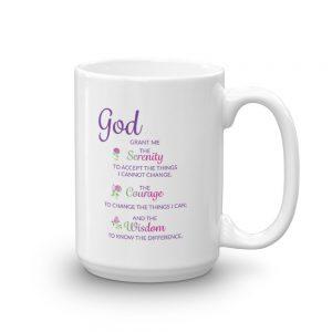 Coffee Mug with Serenity Prayer