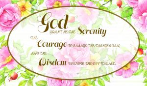 serenity prayer rose and gold wallet card