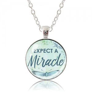 Glass Pendant Necklace - Butterfly Bliss - Expect A Miracle