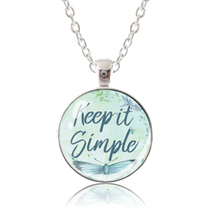 Glass Pendant Necklace - Butterfly Bliss - Keep it Simple