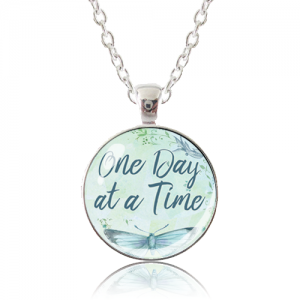 Glass Pendant Necklace - Butterfly Bliss - One Day at a Time