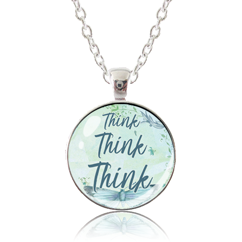 Glass Pendant Necklace - Butterfly Bliss - Think Think Think