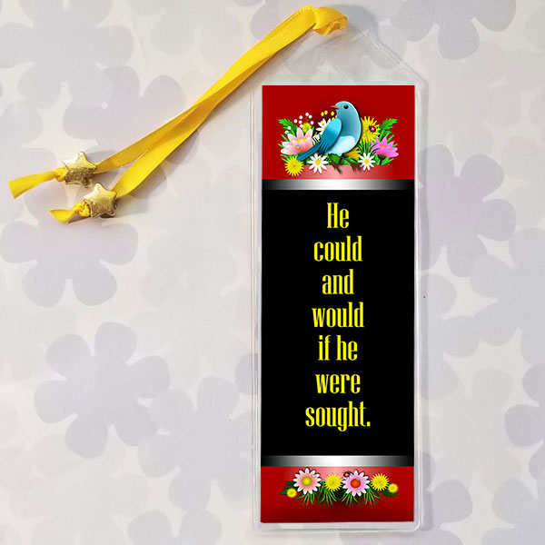 Bookmark with AA quote He could and would if he were sought