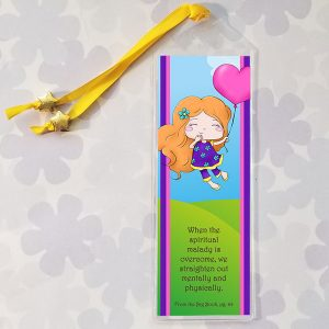 Bookmark with quote from the Big Book - When the spiritual malady is overcome, we straighten out mentally and physically.