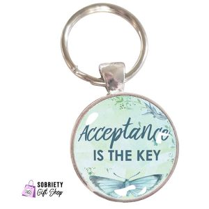 Keychain with AA Slogan Acceptance is the key