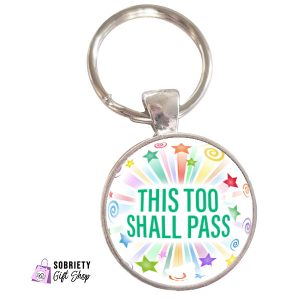 Keychain-with-Starburst-Design-This-too-shall-pass
