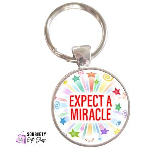Keychain-with-Starburst-Design---expect-a-miracle