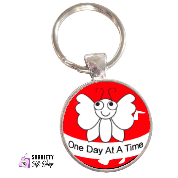 Keychain-with-cute-bugs---One-Day-at-a-time