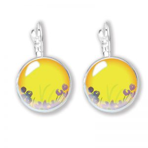 Glass Cabochon Earrings - Arizona Sun