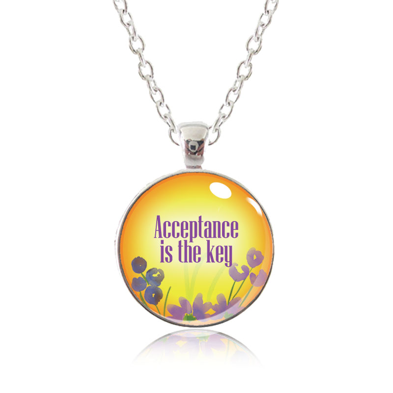 Glass Pendant Necklace - Arizona Sun - Acceptance is the Key