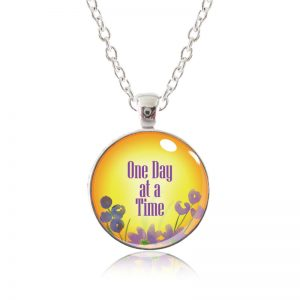 Glass Pendant Necklace - Arizona Sun - One Day at a Time