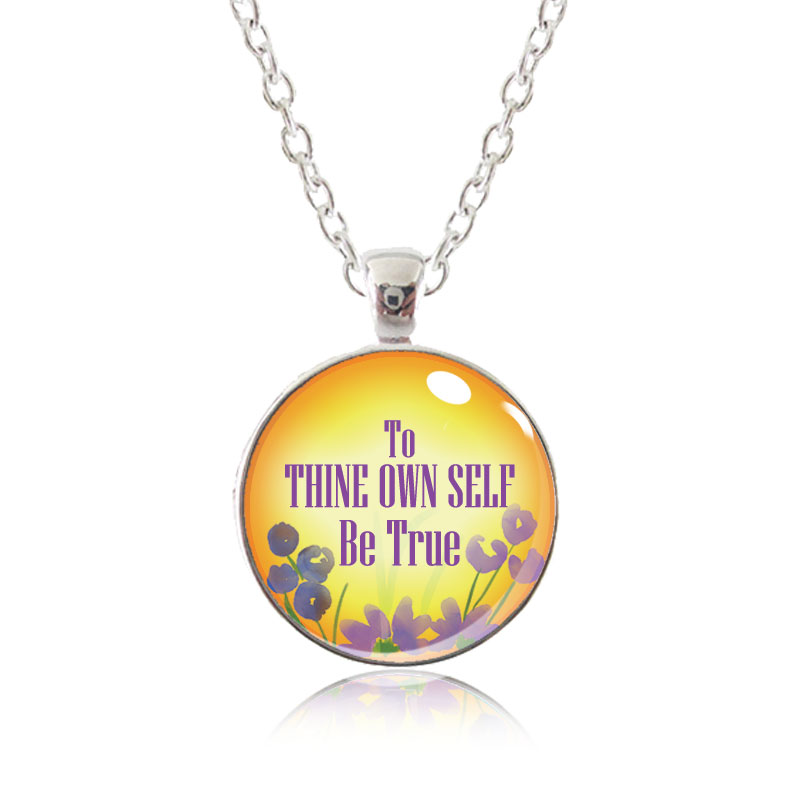 Glass Pendant Necklace - Arizona Sun - To thine own self be true
