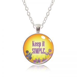 Glass Pendant Necklace - Arizona Sun - Keep it simple
