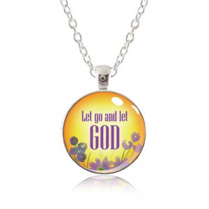 Glass Pendant Necklace - Arizona Sun - Let go and let God