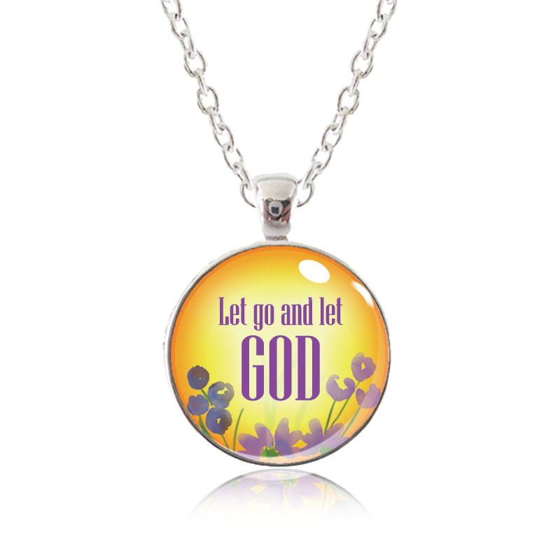Glass Pendant Necklace - Arizona Sun - Let go and let God