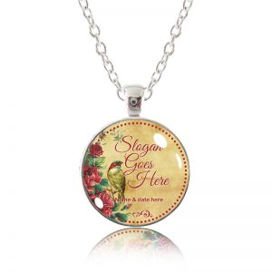 Glass Pendant Necklace - Little Bird - Customized