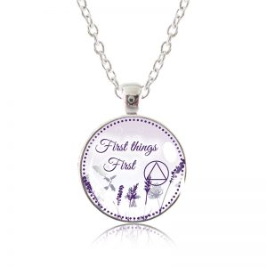 Glass Pendant Necklace - Natalie's Birthday - First Things First