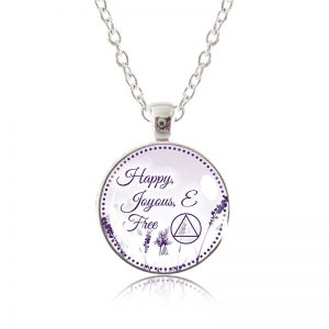 Glass Pendant Necklace - Natalie's Birthday - Happy Joyous and Free