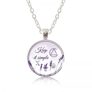 Glass Pendant Necklace - Natalie's Birthday - Keep it simple