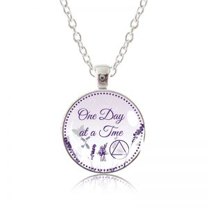 Glass Pendant Necklace - Natalie's Birthday - One Day at a Time