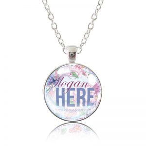 Glass Pendant Necklace with custom artwork