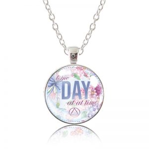 Glass Pendant Necklace - English Garden - One Day at a Time