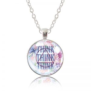 Glass Pendant Necklace - English Garden - Think Think Think