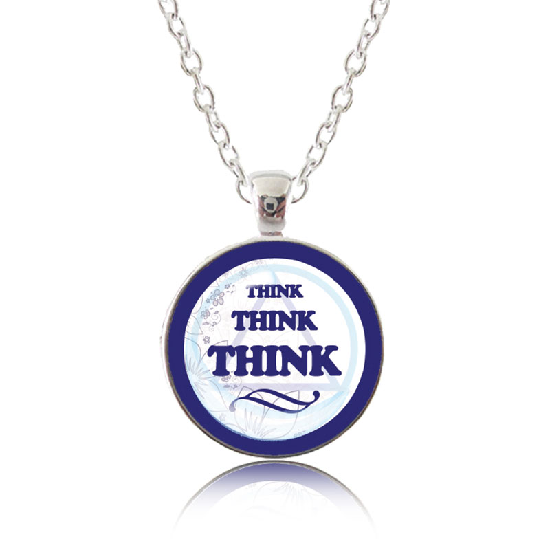 Glass Pendant Necklace - Classic Design - Think Think Think