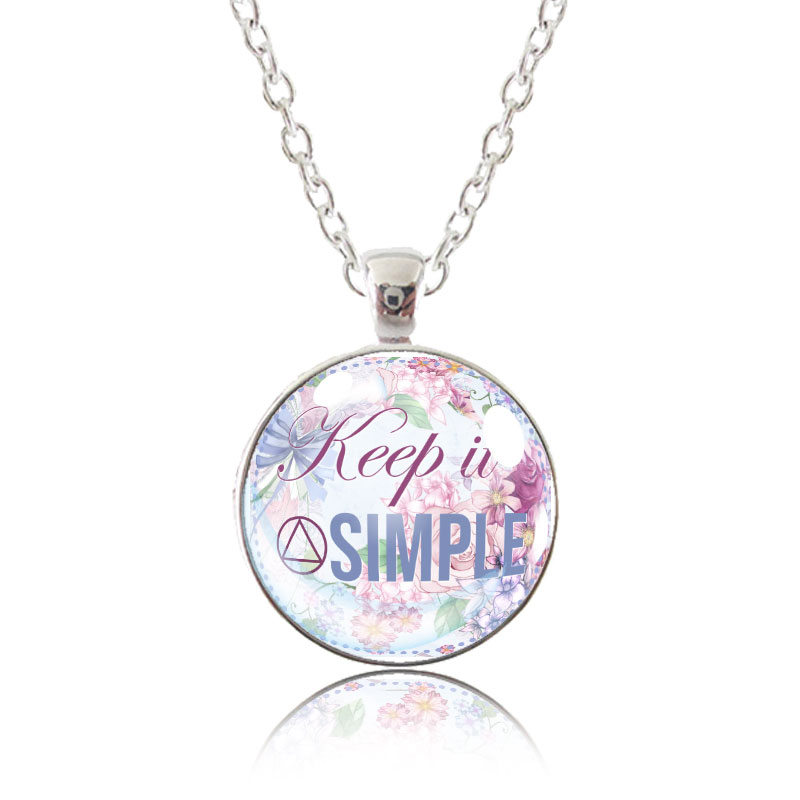 Glass Pendant Necklace - English Garden - Keep It Simple